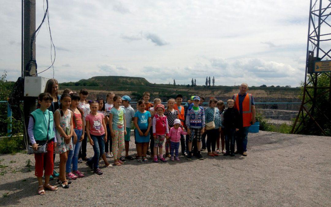 Екскурсія для учнів ЗОШ№2 територією ТОВ «РКДЗ»/ТДВ «Рокитнянський спецкар'єр»